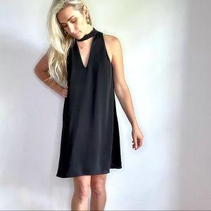 Amanda Uprichard Black Swing Halter Neck Dress M